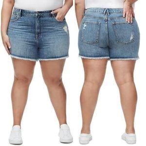 NWT Good American Bombshell cutoff shorts